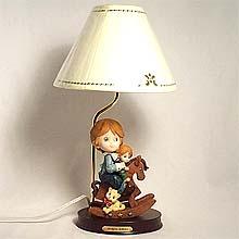 Boy on Rocker table lamp