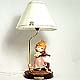 Girl Violinist table lamp