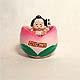 Sumo Wrestler Gooseneck figurine