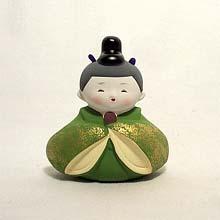 Ringing Japanese boy figurine