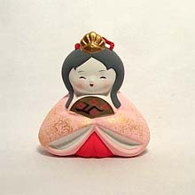 Ringing Japanese Girl figurine