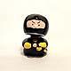Black Ninja Gooseneck figurine