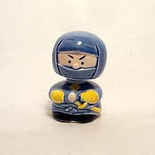 Blue Ninja Gooseneck figurine