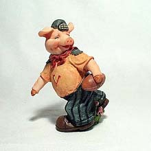 Football Piglet figurine