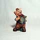 Baseball Piglet figurine