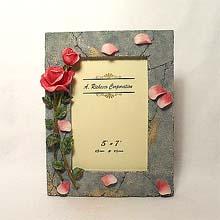 5x7  Rose petals frame
