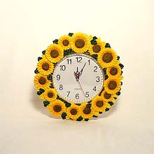 Circular Sunflower wall clock
