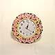 Circular Garden Roses wall clock