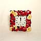 Square Apples wall clock