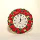 Strawberry Patch wall clock