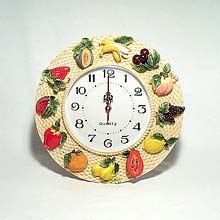 Circular Fruits wall clock