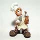 Live Catch  Chef figurine