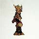 Buffalo totem pole wall ornament