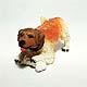Crouching Terrier Gooseneck figurine